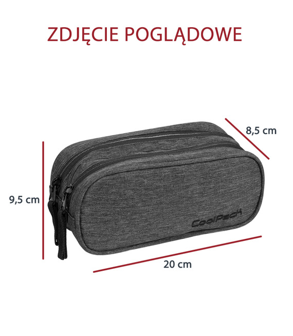 Piórnik szkolny Coolpack Clever Snow black 76425CP nr 865