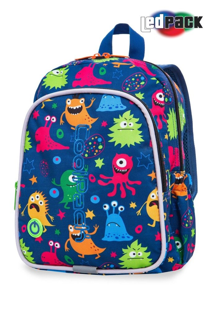 School backpack Coolpack Bobby LED Funny Monsters 22691CP A23206 ... dbcb45775a43b