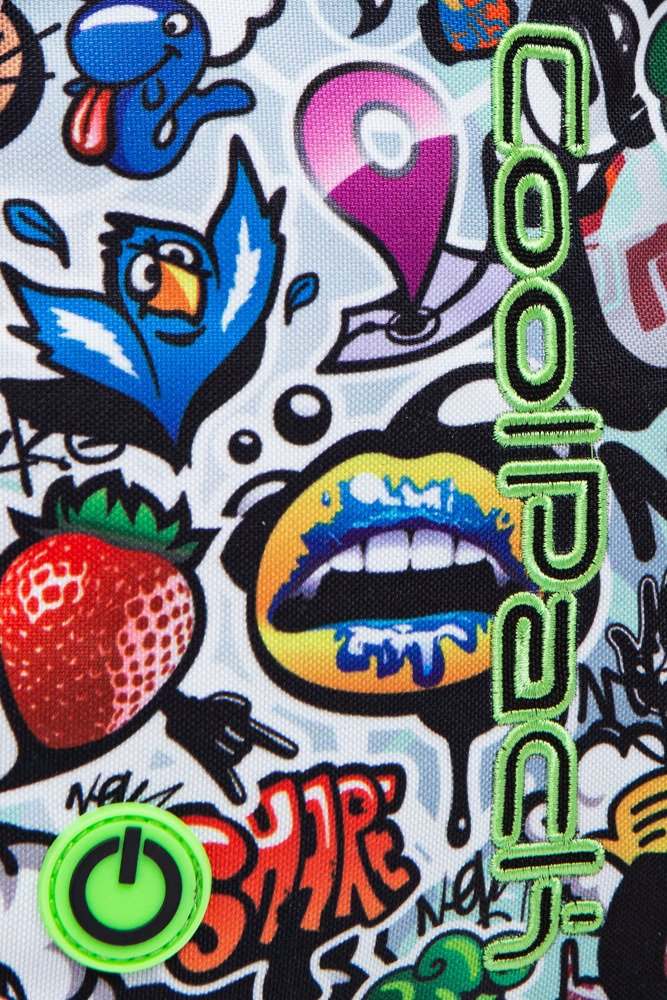 School backpack Coolpack Bobby LED Graffiti 22592CP A23201 - Plecaki ... 5d431627f5f70