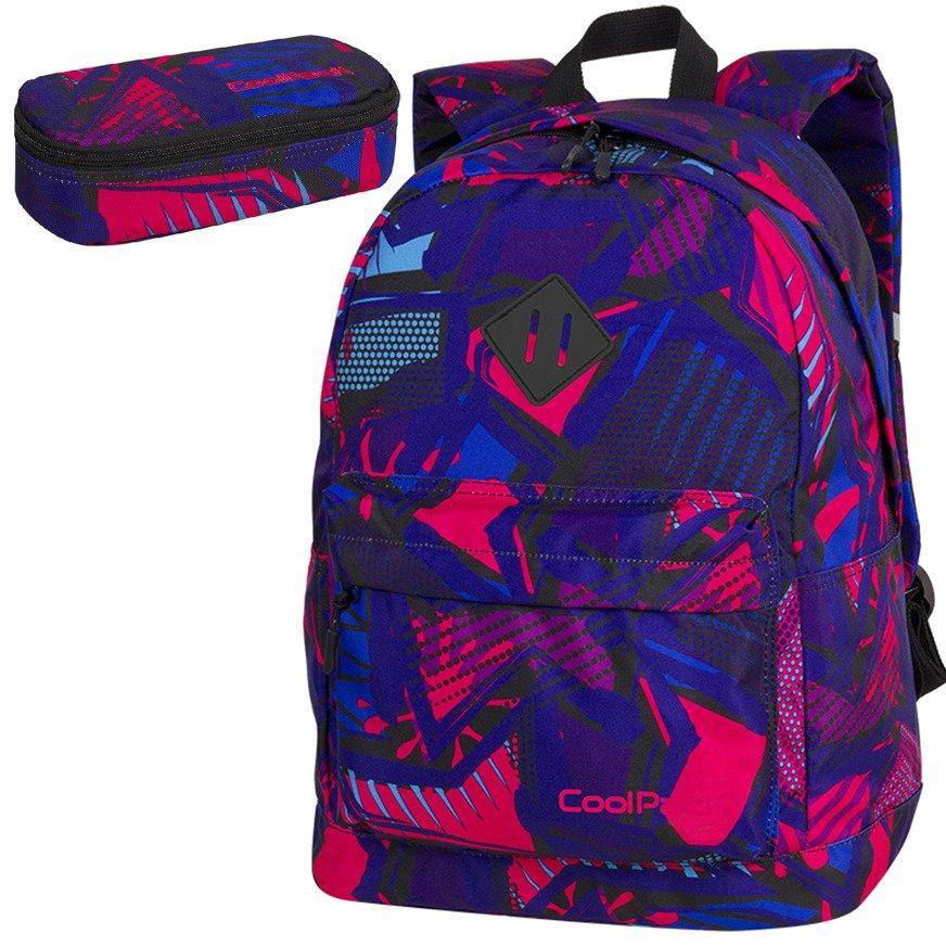 758d3c736369f Zestaw szkolny Coolpack 2018 Crazy Pink Abstract - plecak Cross ...
