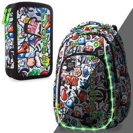 1dff7c63a0e77 Piórnik szkolny podwójny z wyposażeniem Coolpack Jumper 2 Graffiti ...