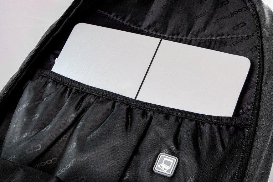 aac3363766f94 ... Młodzieżowy Plecak szkolny Coolpack Hippie Sparkling Badges Grey  22479CP B33085 Kliknij, aby powiększyć