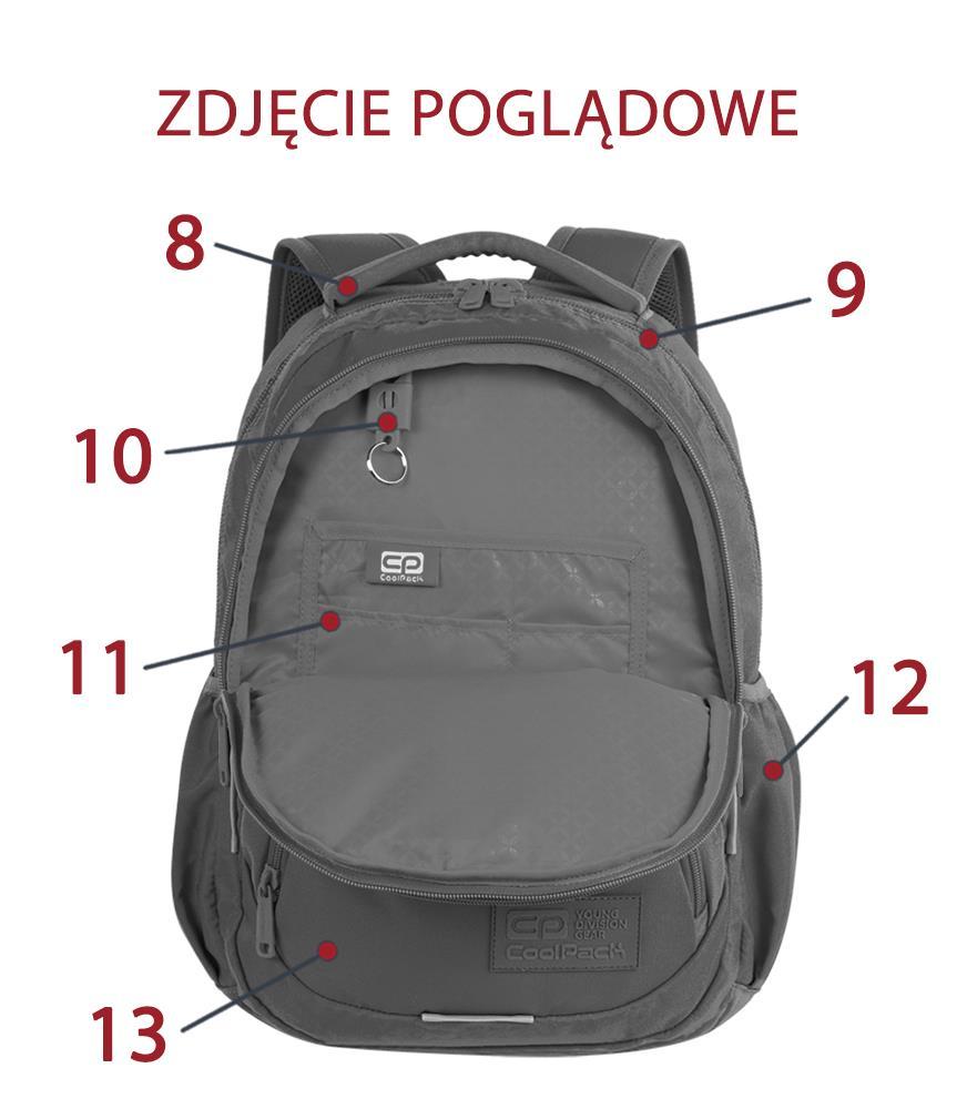 15b0775f47c89 Plecak młodzieżowy Coolpack Dart Badges Girls Black 93859CP ...
