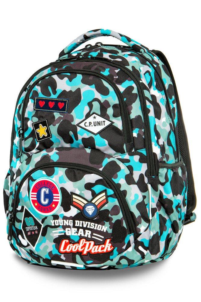 d45154418efa4 Plecak młodzieżowy Coolpack Dart Camo Blue Badges 24152CP A29113 ...