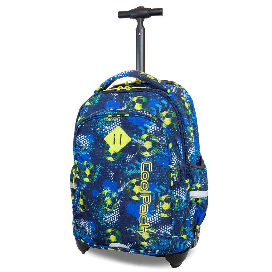 Plecak młodzieżowy na kółkach Coolpack Junior Football Blue 26781CP nr B28037