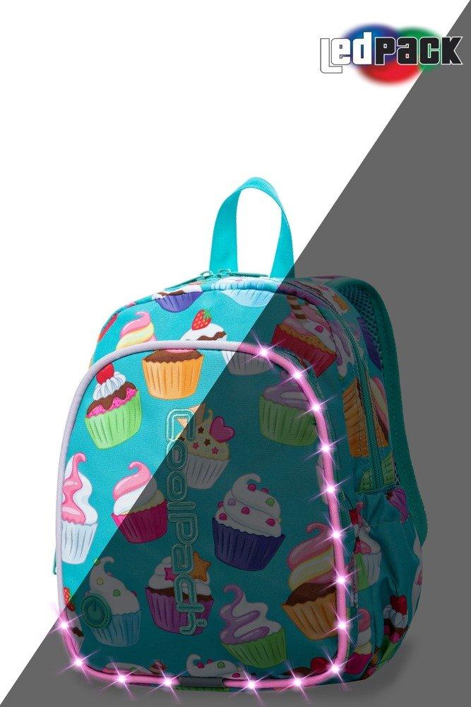 3ae094a3ae7ea Plecak szkolny Coolpack Bobby LED Cupcakes 22639CP A23203 Kliknij, aby  powiększyć ...
