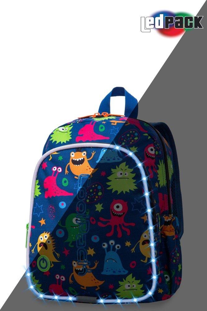 aebff30272410 Kliknij, aby powiększyć; Plecak szkolny Coolpack Bobby LED Funny Monsters  22691CP A23206 Kliknij ...