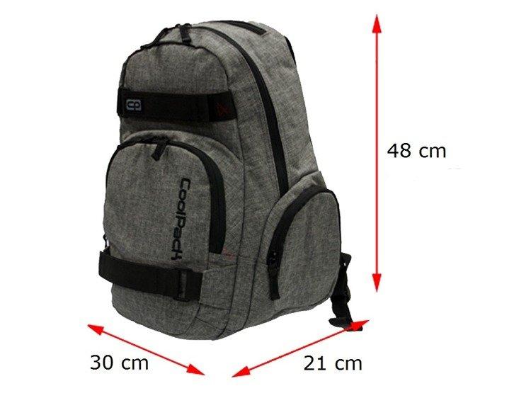 94a30ea4dda67 Plecak szkolny Coolpack Extreme Snow Grey 64910CP nr 592 - Plecaki ...