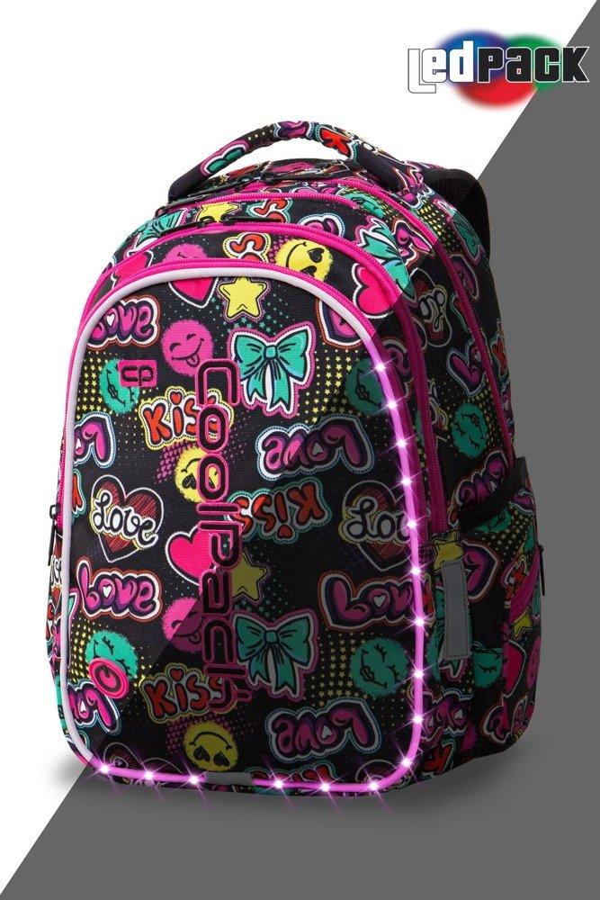 f1f06d6bfa9e0 Zestaw Coolpack Emoticons LED - plecak Joy M, piórnik Campus i worek ...