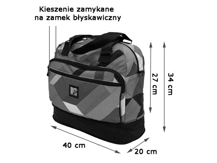 Torba podróżna Coolpack Smart Music MTV 54935CP
