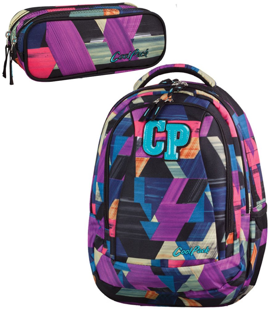 0cce34222213c Zestaw szkolny Coolpack Color strokes - plecak Combo i piórnik ...