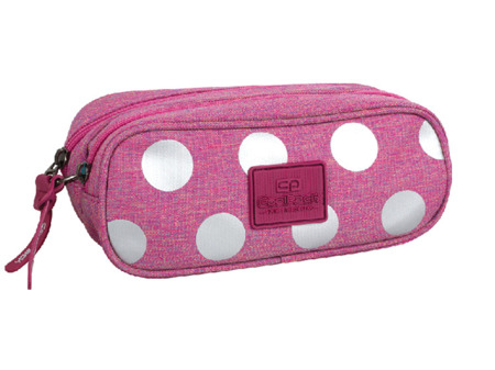 Piórnik szkolny Coolpack Clever Silver dots/pink 78566CP nr 701