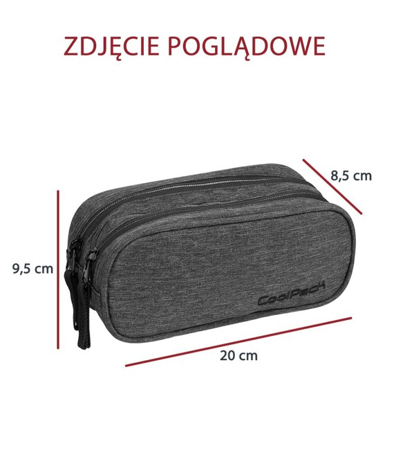 Piórnik szkolny dwukomorowy Coolpack Clever Candy Check 82492CP nr A532
