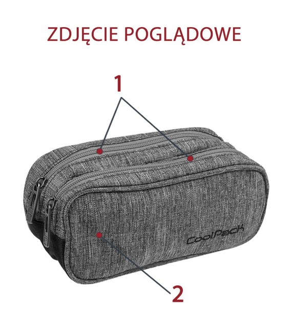 Piórnik szkolny dwukomorowy Coolpack Clever Feathers 86226CP nr A236