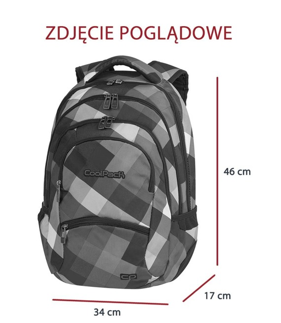 Plecak szkolny Coolpack College Criss Cross 82065CP nr A514