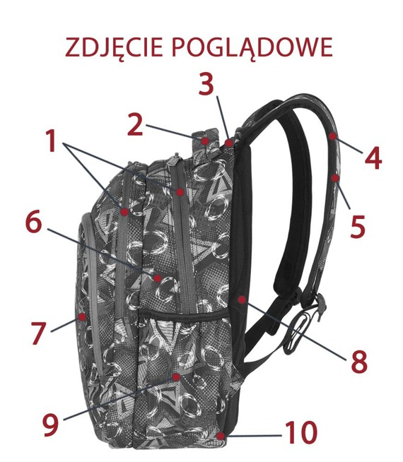 Plecak szkolny Coolpack Prime Geometric Shapes 85243CP nr A202