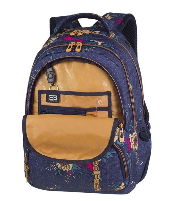 Plecak szkolny Coolpack Spiner Blue Denim Flowers 86254CP nr A055