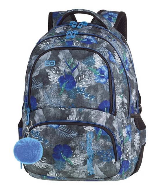 Plecak szkolny Coolpack Spiner Blue Hibiscus 86841CP nr A078