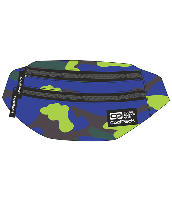 Saszetka nerka Coolpack Madison Camouflage Lime  92746CP nr A355