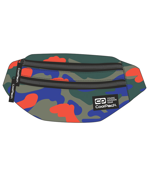 Saszetka nerka Coolpack Madison Camouflage Tangerine 92326CP nr A346