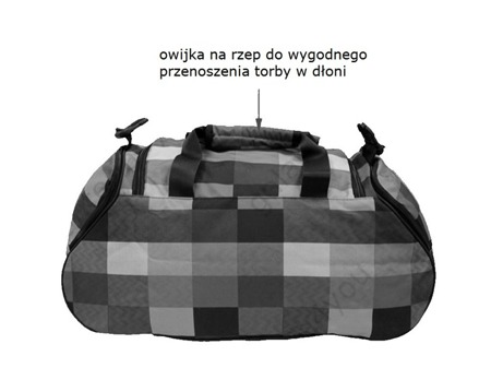 Torba sportowa Coolpack Runner Pastel check 47166CP nr 124