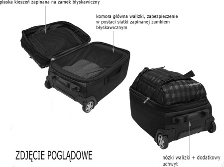 Walizka mała Coolpack Voyager Polo 62787CP nr 363