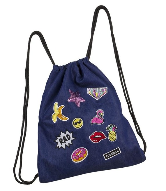 Worek sportowy Coolpack Sprint Badges Girls Denim 93828CP