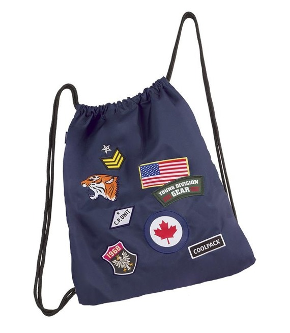 Worek sportowy Coolpack Sprint Badges Navy 90711CP nr A414