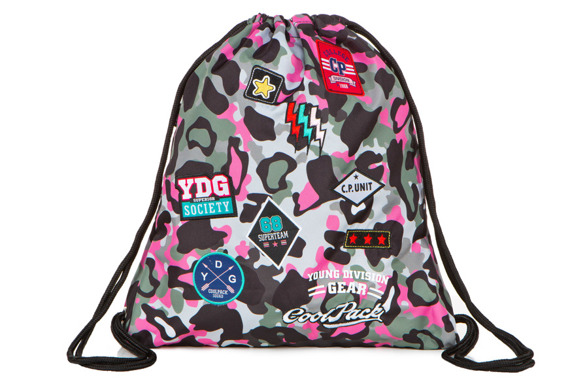 Worek sportowy Coolpack Sprint Camo Pink Badges 24121CP A73112