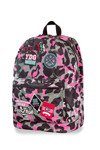 Plecak młodzieżowy Coolpack Cross Camo Pink Badges 24022CP A26112